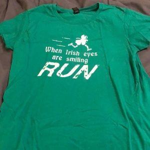 "Tops - ""When Irish Eyes are Smiling RUN"" short sleeve tee"